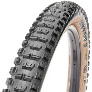 Maxxis Minion DHR II bicycle tire with tan sidewall
