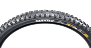 Close-up of Maxxis Shorty bicycle tire sidewall