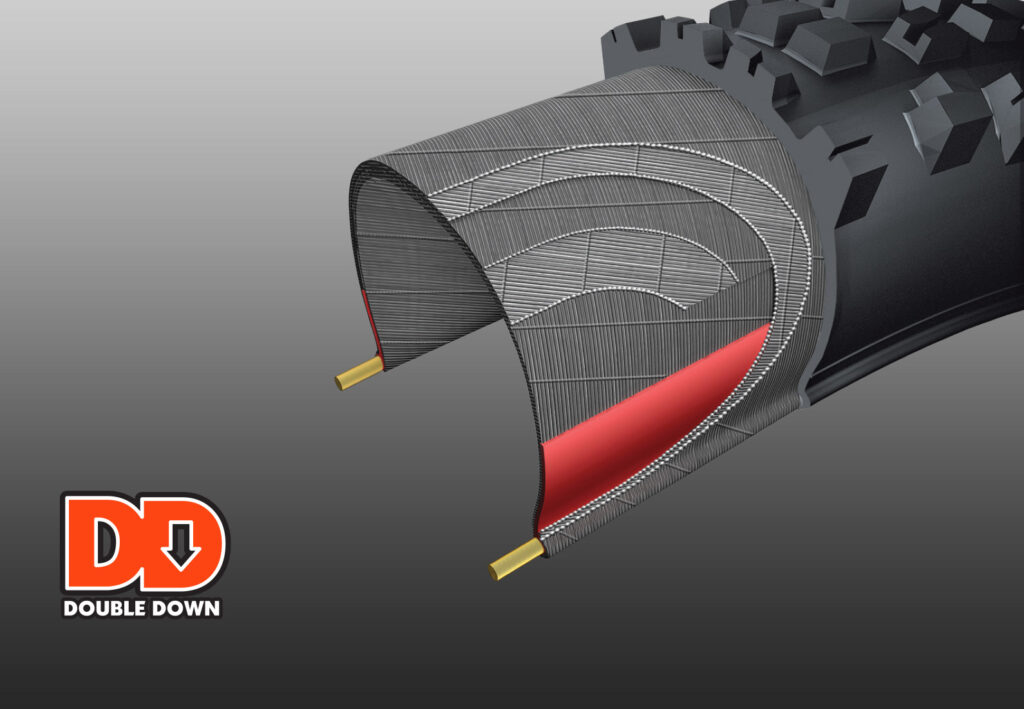 Diagram of Maxxis' Double Down protection