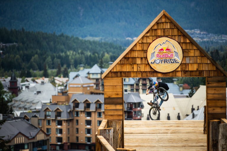 Dropping into Red Bull Joyride