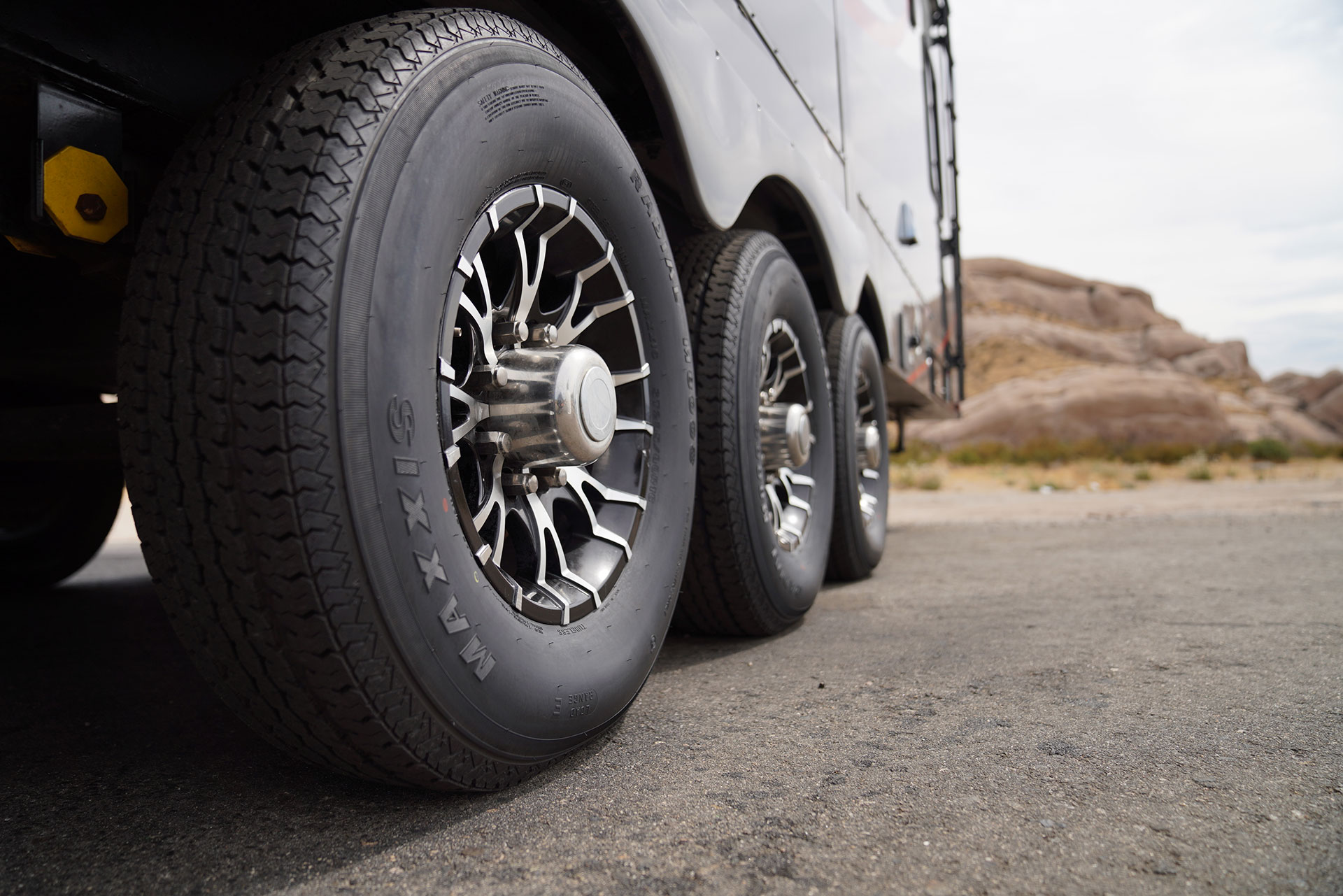 Maxxis tires on trailer